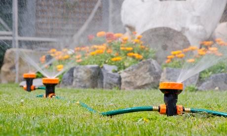Sistema de riego portátil con 3 aspersores y 5 difusores de agua Oferta en Groupon