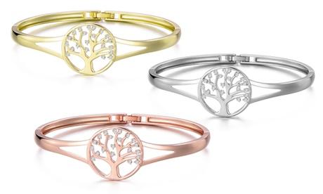 Pulsera 'árbol de la vida' de Philip Jones adornada con cristales Swarovski®