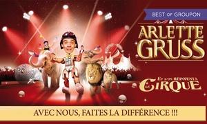 Cirque Arlette Gruss: 1 place pour la tournée 2017 du Cirque Arlette Gruss avec visite de la ménagerie dès 13 €, ville au choix