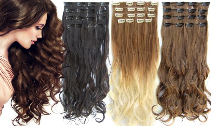 Wonderbaar Clip-on hairextensions | Groupon Goods WQ-31
