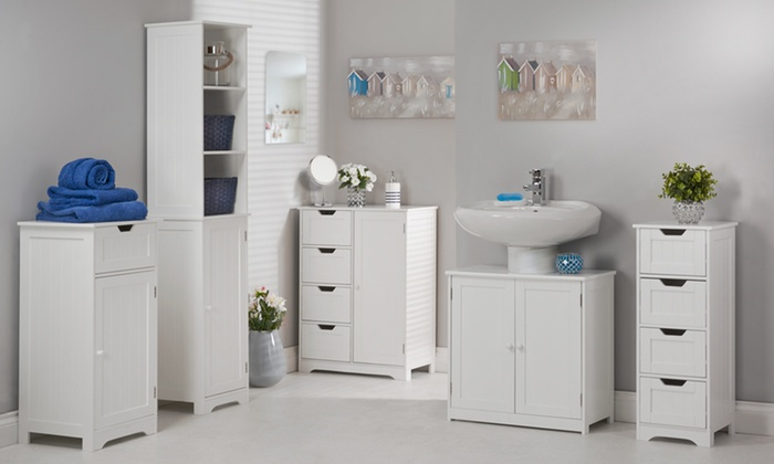 white bathroom furniture range