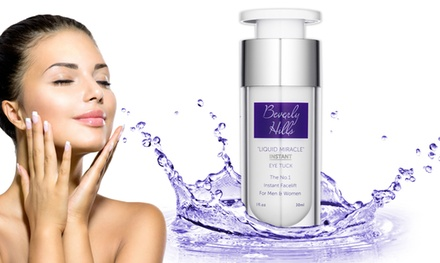 One, Two or Three 30ml Bottles of Beverly Hills Liquid Miracle Instant Facelift and Eye Tuck
