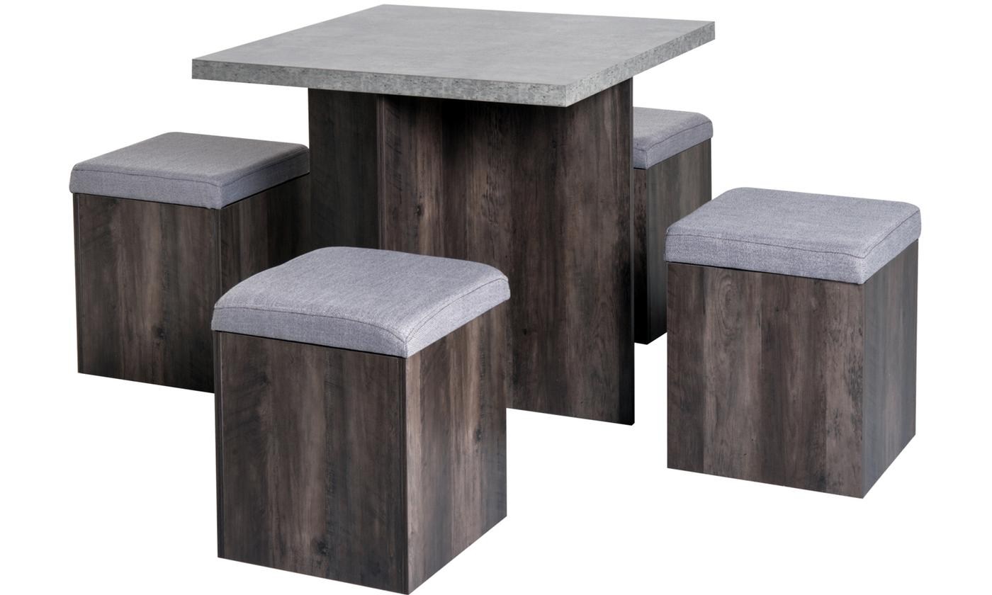 Five-Piece Wooden Dining Table Set