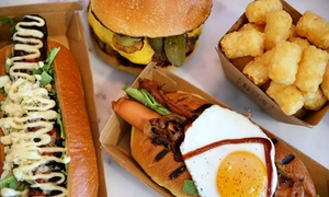 The Hot Dog Man: Gourmet Hot Dog Combo for One ($12) or Two People ($23) at The Hot Dog Man, Manly (Up to $38 Value)