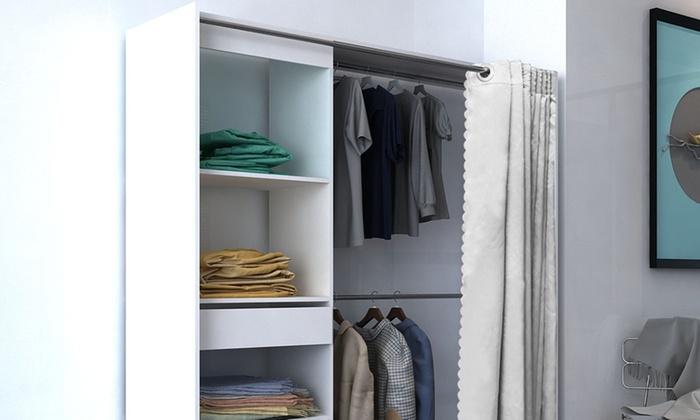 Dressing extensible avec rideau | Groupon