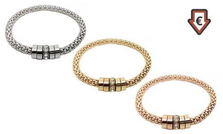 Uno o 3 bracciali Onyx con cristalli Swarovski® disponibili in 3 colori