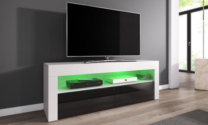 Meuble tv 140 cm avec sans led groupon shopping for Groupon shopping arredamento