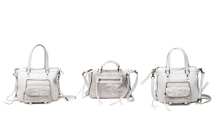 Joelle Hawkens Embossed Lizard Handbag