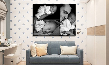 """Personalised Single Image or Collage Canvas up to 16"""" x 12"""" from Grange Print (Up to 95% Off)"""
