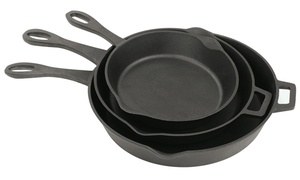 Bayou Cast Iron Pan Set (1-, 2-, or 3-Piece)