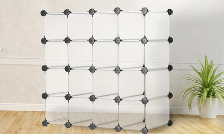 16-Piece Cube Storage Organiser in Black or White for £21.98 (56% Off)