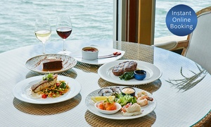 Waterfront Port Melbourne: 3-Course Feast with Seafood & Wine for 2 ($69) or 6 People ($199) at Waterfront Port Melbourne (Up to $374 Value)