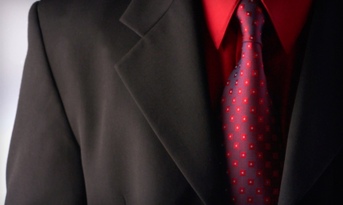 Bunbury Custom Clothiers - Beverly Woods: Custom Suit Package with a Shirt and Tie or Four Custom Dress Shirts at Bunbury Custom Clothiers (Up to 65% Off)