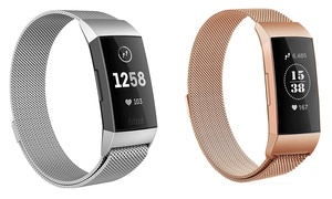 Stainless Steel Band for Fitbit Charge 3