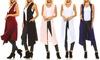 Isaac Liev Women's Extra-Long Lightweight Cardigan Vest : Isaac Liev Women's Extra-Long Lightweight Cardigan Vest
