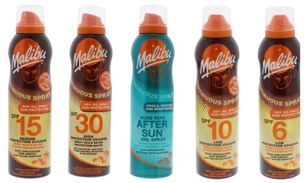 Three-Pack of Malibu Sun Protection Dry Oil & After Sun Sprays