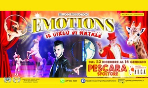Emotions: lo spettacolo del Circo Bellucci a Spoltore: Emotions: lo spettacolo del Circo Bellucci - Dal 21 dicembre al 14 gennaio a Spoltore (sconto fino a 47%)