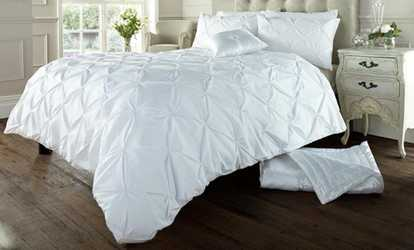 Bedding bed and mattress deals groupon shop groupon soft touch pin tuck duvet set gumiabroncs Image collections