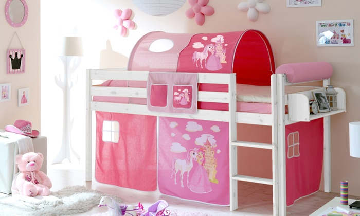 lit enfant avec tente et tunnel groupon shopping. Black Bedroom Furniture Sets. Home Design Ideas