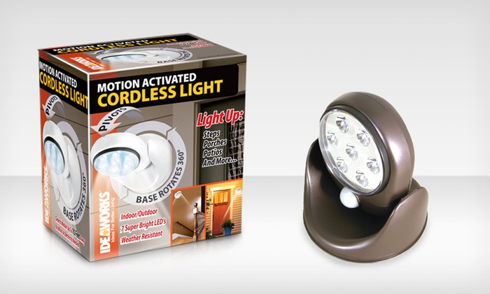Motion Activated Indoor or Outdoor Light: Motion Activated Indoor or Outdoor Light. Multiple Colors Available. Free Returns.