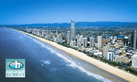 Broadbeach: Three or FiveNight Apartment Stay with Wine and Late CheckOut at Boulevard Towers Gold Coast