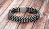 Simply Steel Men's Double Row Foxtail Chain Bracelet