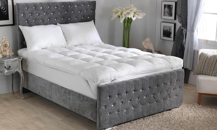 groupon goods global gmbh sleeping on a cloud luxuriously deep cotton mattress topper