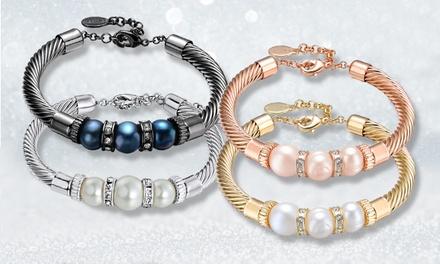 1 ou 2 bracelets perles naturelles et cristaux Swarovski®, coloris au choix dès 14,99€, livraison offerte