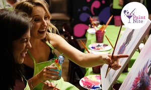 The Original Paint Nite at Local Bars (Up to 46% Off)  at Paint Nite, plus 6.0% Cash Back from Ebates.