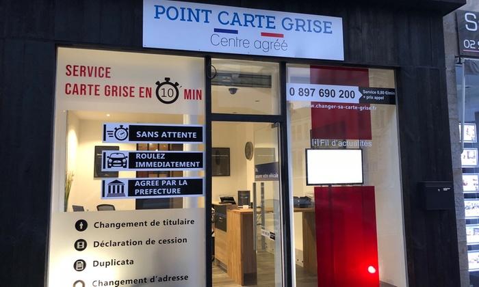 Service Carte Grise Au Guichet Avec Changement De Statut De Son Choix Avec Point Carte Grise