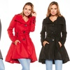 Women's Plus Size Flared Coat