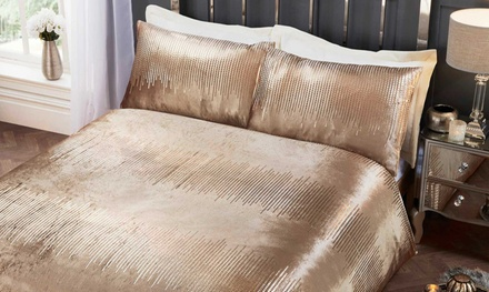 Velvet Touch Shimmer Duvet Sets in a Choice of Colour and Size