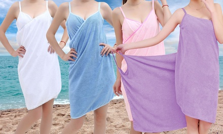 One or Two Quick Dry Beach Towel Wraps