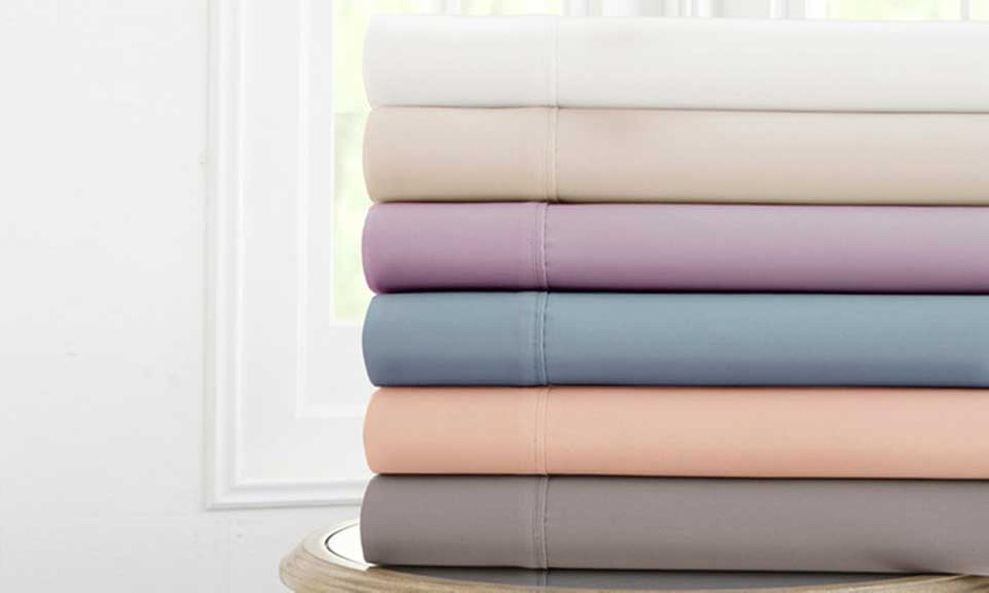 Easy Care Plain Dyed Flat Sheets or Two-Pack of Pillowcases (£5)