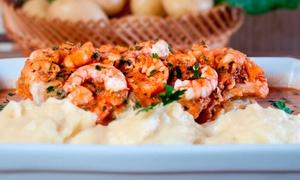 Restaurante Casarrara: Filé de peixe à Belle Meunière ou filé de peixe ao molho de camarão para 2 ou 4 no Restaurante Casarrara – Matatu