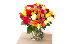 Les Fleurs de Nicolas: Bouquet Tutti Frutti avec boîte de chocolats en option avec Les Fleurs de Nicolas dès 24,90 €