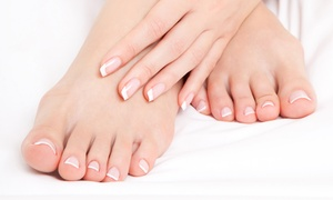 New Beginnings School of Cosmetology: Gel Manicure with Spa Pedicure at New Beginnings School of Cosmetology (Up to 50% Off). Four Options Available.