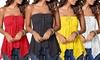 1x oder 2x Bandeau-Oberteil mit geripptem Brust und Spitze für Damen