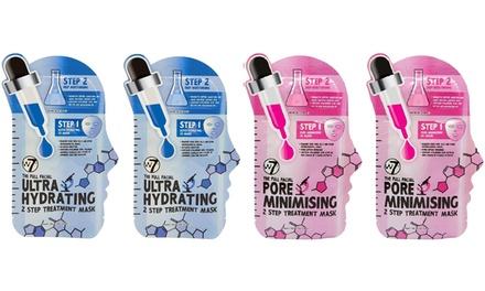 Pack de 4 u 8 mascarillas de tratamiento facial con crema hidratante de la marca W7