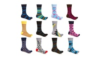 Alberto Cardinali Men's Patterned Dress Socks (24-Pack)