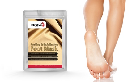 Up to Five Pairs of Exfoliating Peel Foot Mask Socks