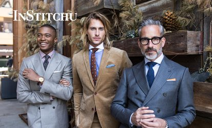 $10 for $100 Credit Towards Your Custom, Tailored Suit by InStitchu