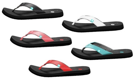 Riverberry Yoga Womens Premium Flip Flop with Yoga Mat Padding