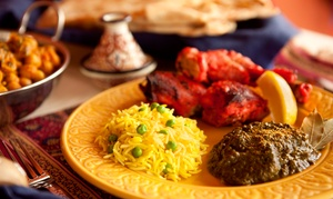 India Tavern: Three-Course Indian Meal for Two or $11 for $20 Groupon at India Tavern (Up to 43% Off)