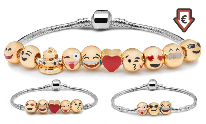 Groupon Goods Global GmbH: Emoji Charm Bracelet from €6.99 (Up to 92% Off)