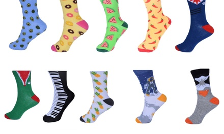 Unisex Funky Novelty Casual/Business Socks: 10 Pairs ($19) or 15 Pairs ($29)