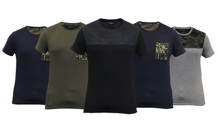Brave Soul Tshirts homme camouflage coton