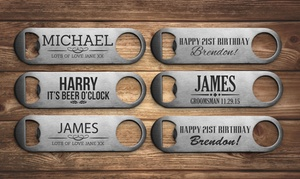 Fabness: Up to Three Personalised Bottle Openers from Fabness (Up to 77% Off)