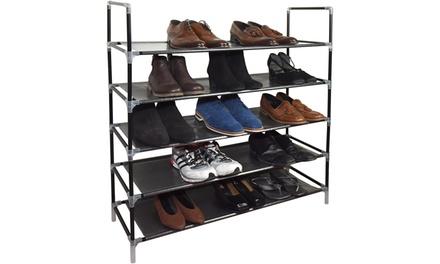 Five- or Ten-Tier Vinsani Shoe Organiser Rack