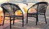 Malibu Black Wicker Outdoor Chair (2-Pack): Malibu Black Wicker Outdoor Chair (2-Pack)